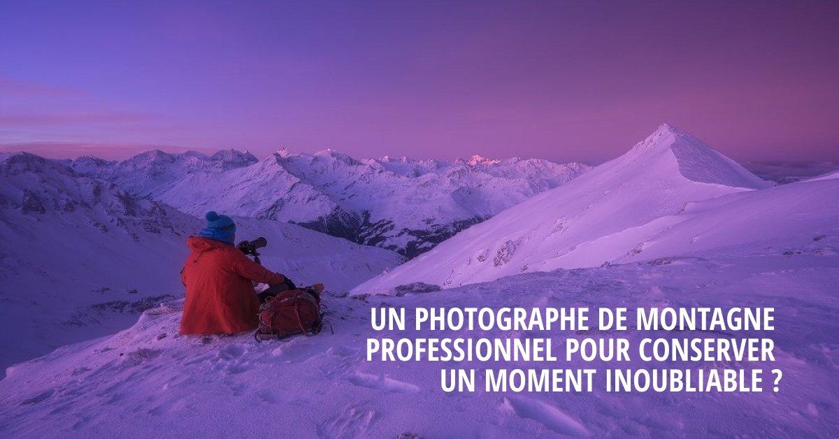 Photographe de montagne professionnel