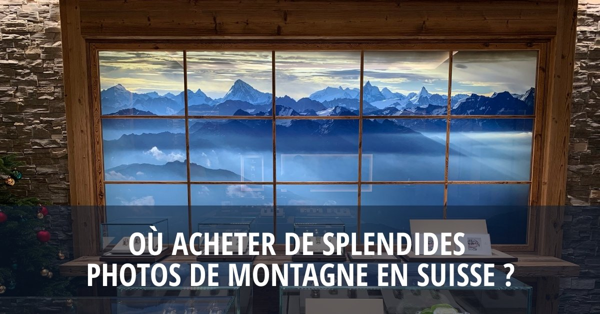 Splendide panorama de montagnes Suisse