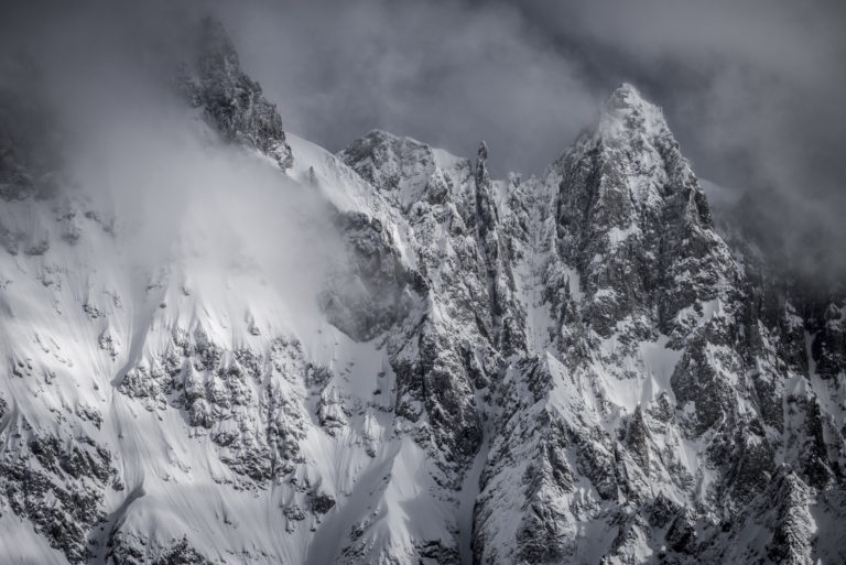 Image montagne des massifs Mont Blanc - Photo Aiguille de Rochefort