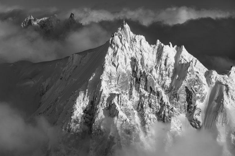 image aiguille du midi artistique montagne photo