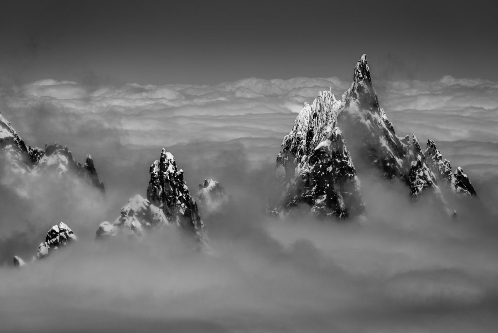Aiguille du midi à Chamonix - Fantasma Peak