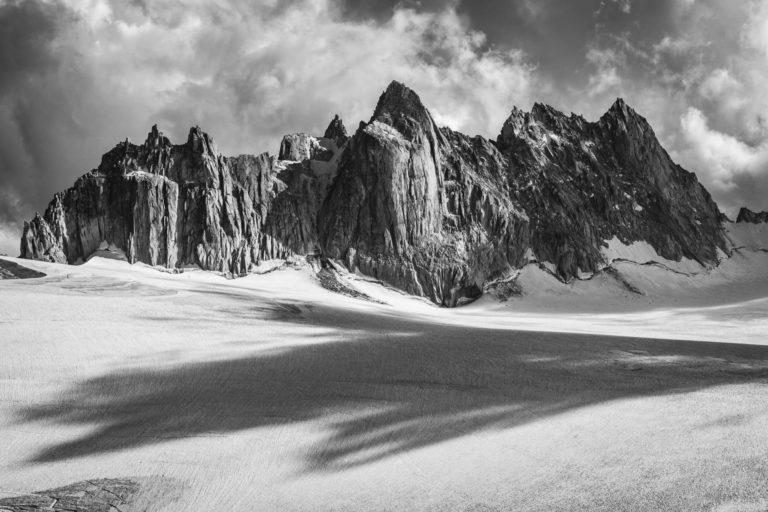 Fotos Berg Mont-Blanc -Foto Alpen - Foto Aiguilles dorées aus Trient