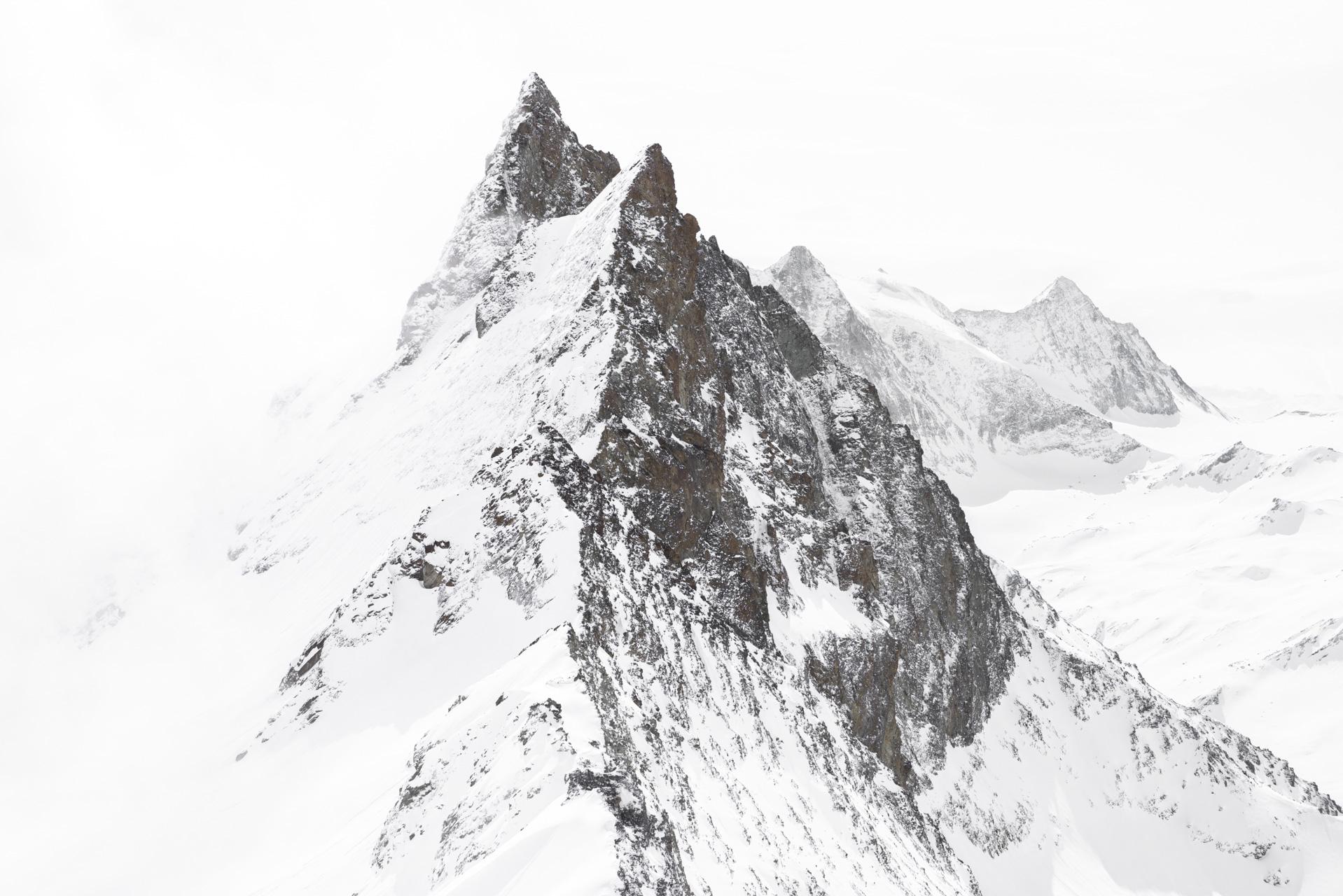 Vue panoramique de montagne - Arolla aiguilles rouges Mont Blanc de Cheillon et la Ruinette