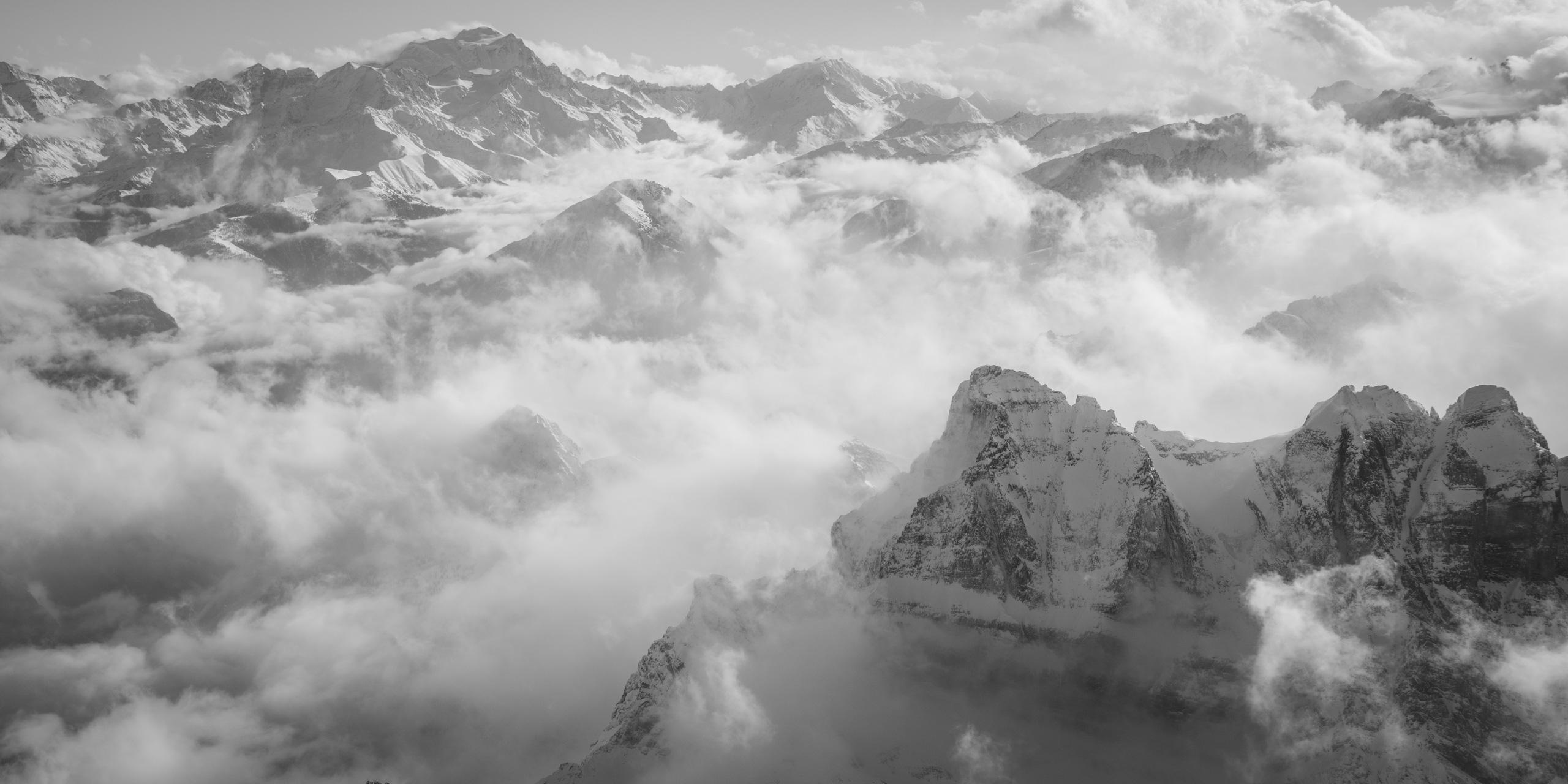 Dents du midi suisse - blanc verbier - Survol des alpes en hélicoptère