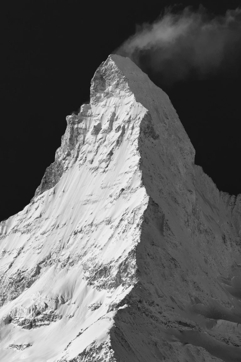 Mont Cervin Suisse enneigé - Photo du Cervin vu de Findelalp