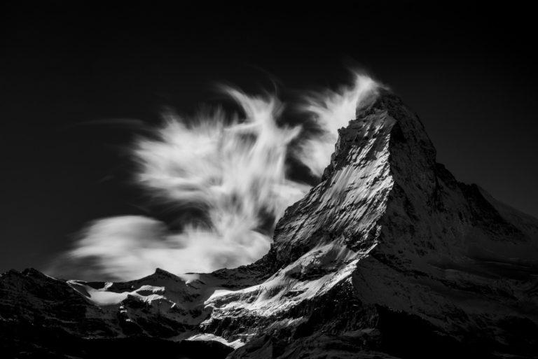 Mont Cervin depuis Findelalp - photos des montagnes alpines