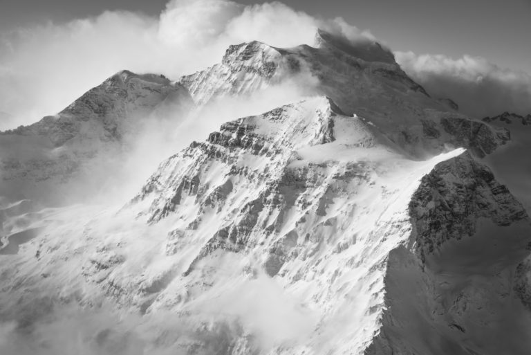 Combin und Tournelon Blanc - Wolkenmeer auf den Gipfeln der Alpen - Fotos Berghochalpen