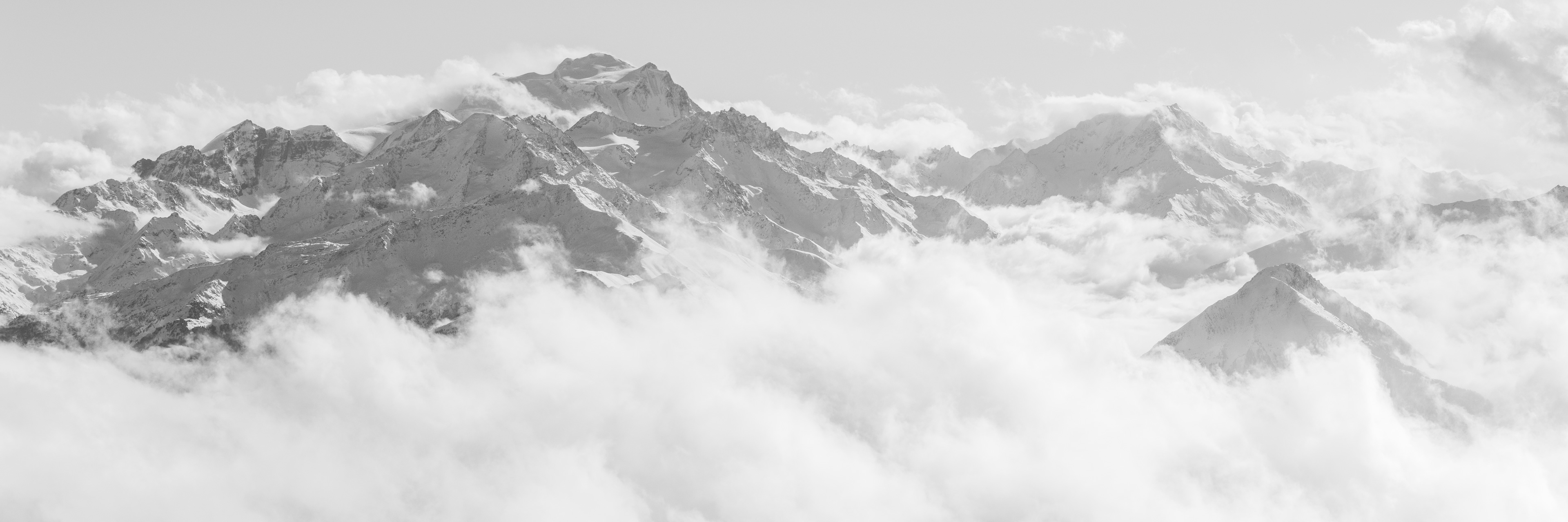 poster panoramique montagnes des Combins, du Mont Vélan et du Catogne