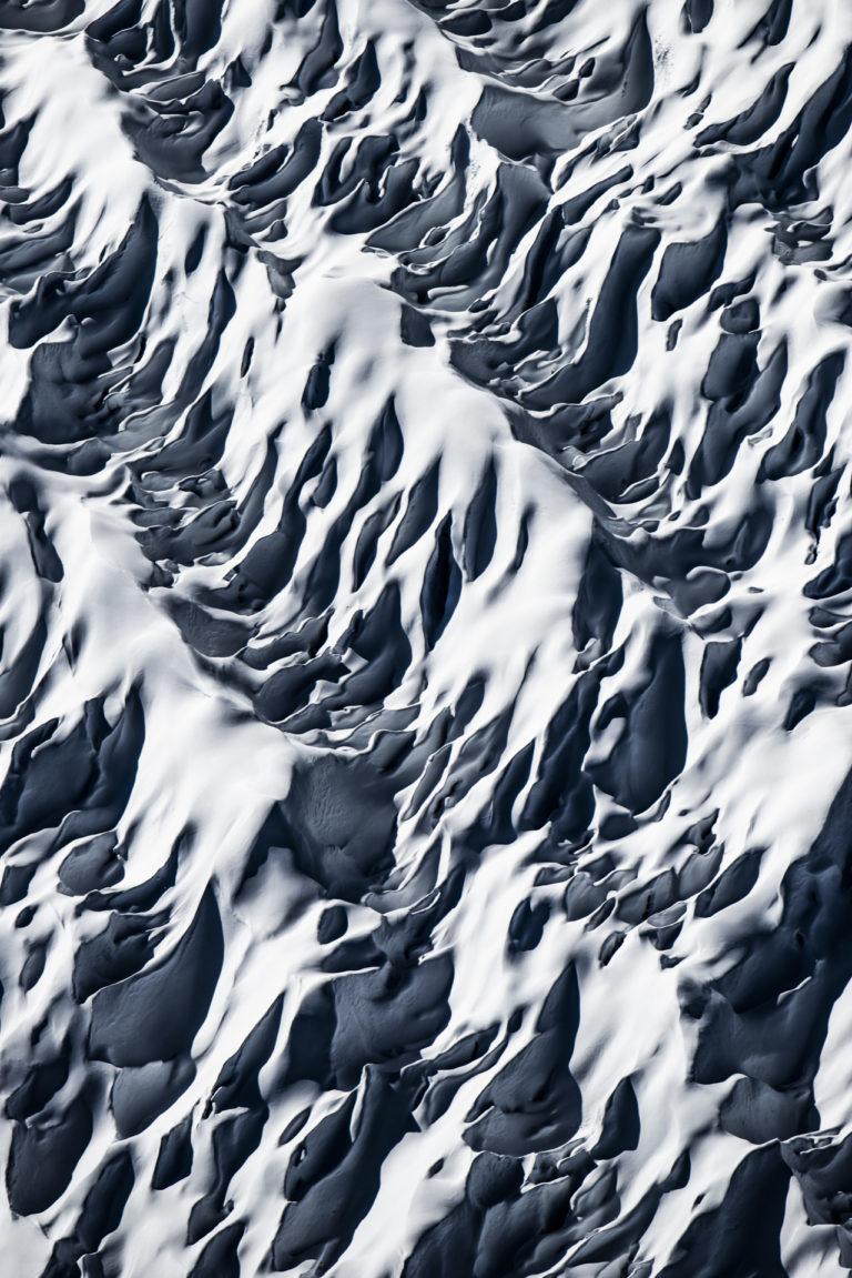 Photo crevasses des glaciers des Alpes - Photo paysage montagne - glacier d'Aletsch