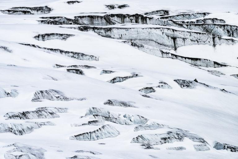 Photo de crevasses dans le glacier des Alpes - Glacier de Zinal