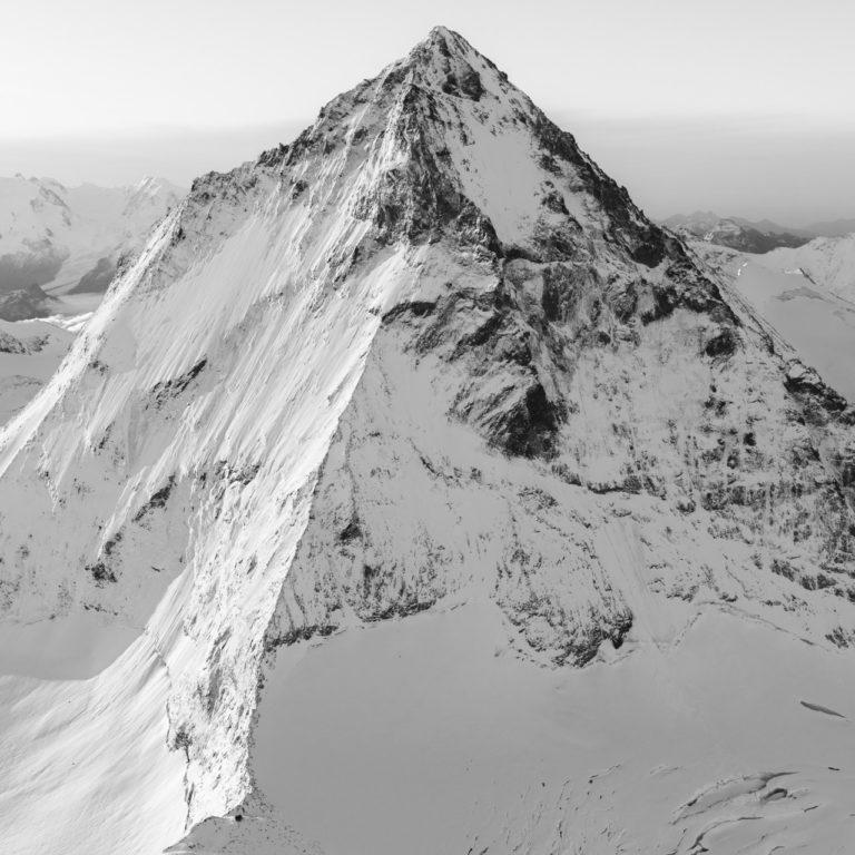 Dent Blanche - tableau photo noir et blanc montagne - photo montagne neige noir et blanc
