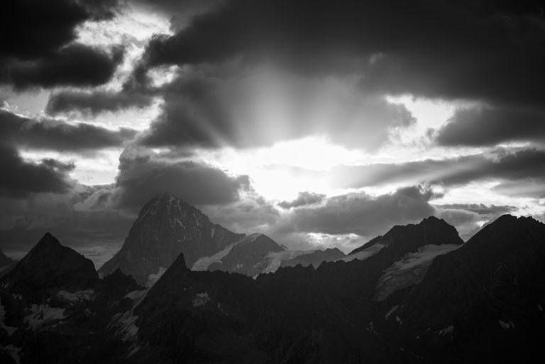 Val d'hérens - image paysage montagne - Dent Blanche, Bertol