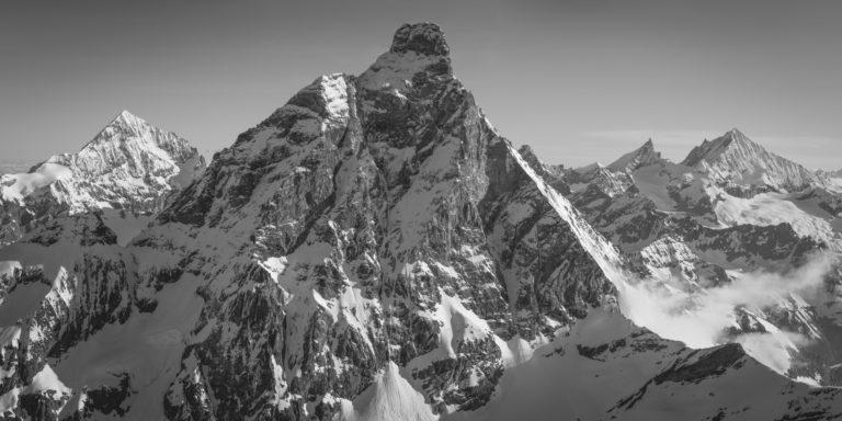 Paysage montagne neige - Dent Blanche - Cervin - Zinalrothorn - Weisshorn