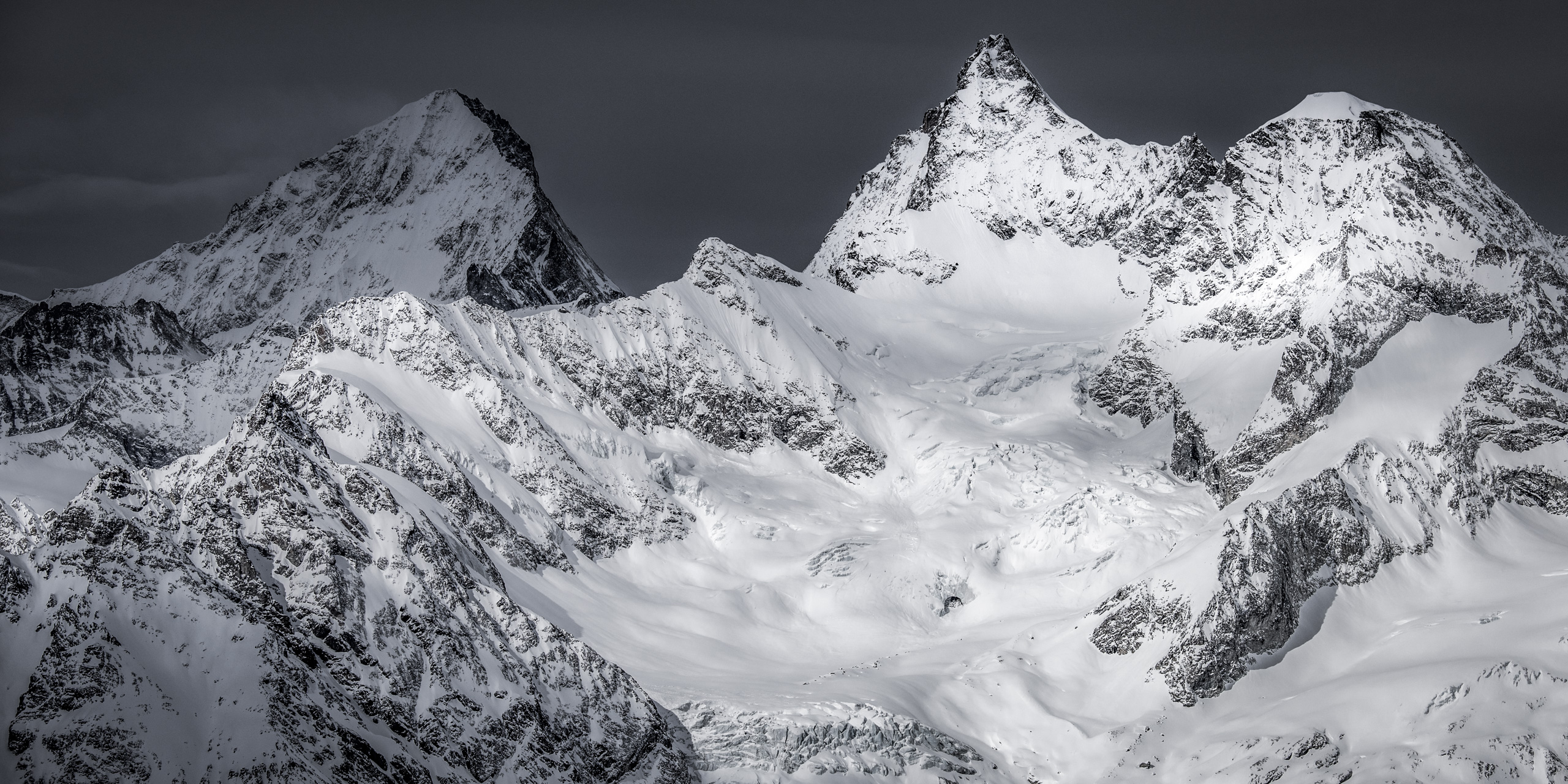 Dent Blanche - Obergabelhorn - Panorama des plus belles montagnes et des plus beaux sommets de Zermatt
