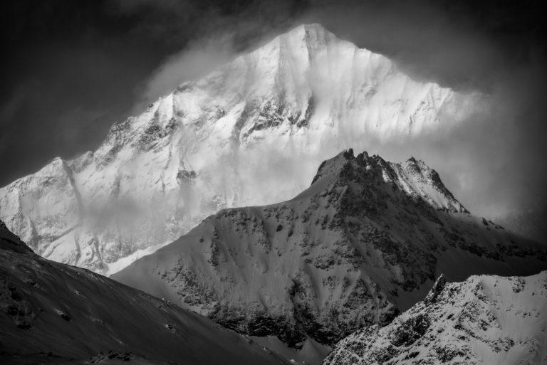 Photo dent blanche et Pointe de Zinal vues de Zermatt- photos montagne Alpes