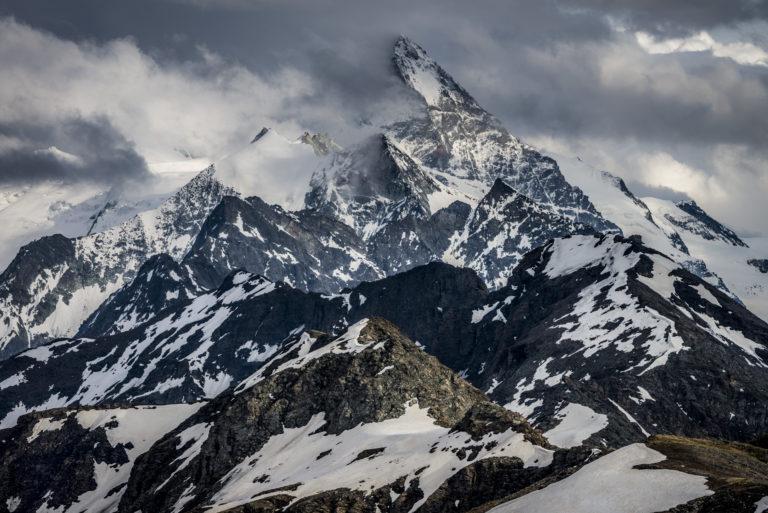 Photo noir et blanc dent blanche - Val d'Hérens - Val d'Anniviers