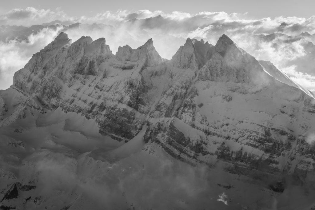 Dents du midi - Tempete en montagne sur les Alpes