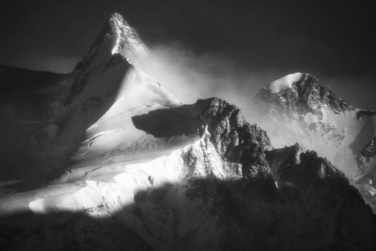 Photo haute montagne - vallée de Zermatt - Dufourspitze - Zumsteinspitze