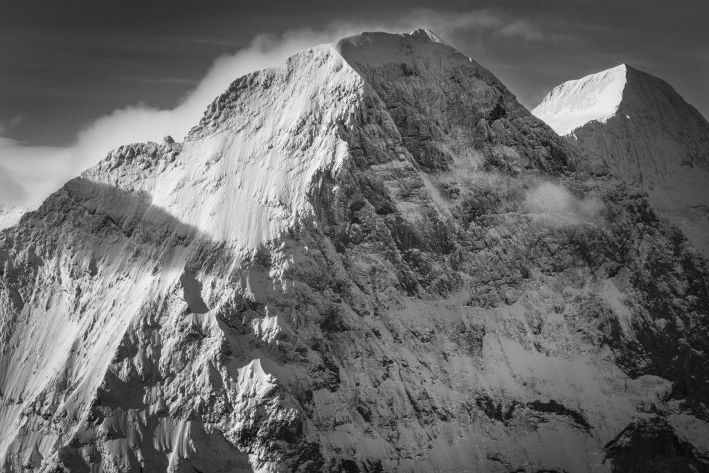 Grindelwald Suisse - photo neige montagne de Eiger - Monch - photo lever de soleil montagne