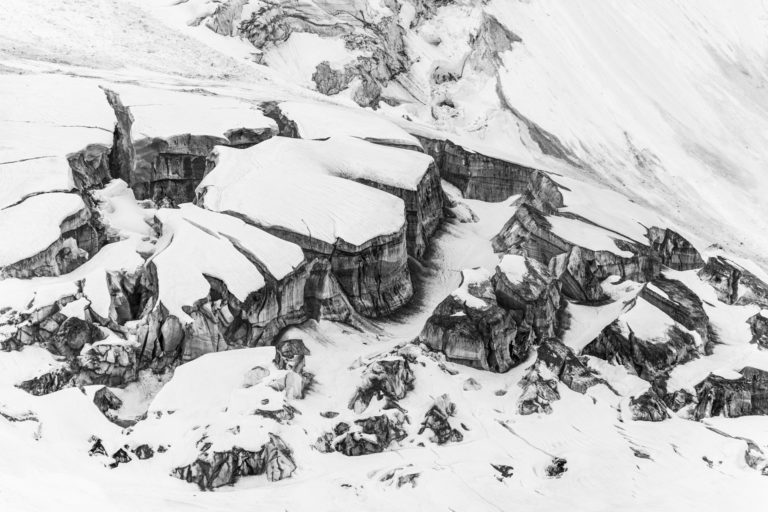 Glace des Alpes - Photo glacier des Alpes - Crevasses glacier de Bionassay