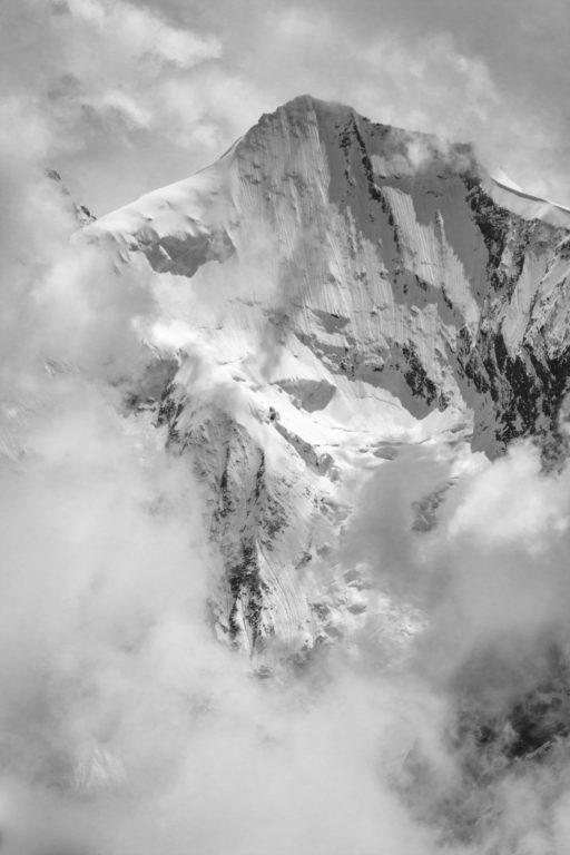 Val d'Anniviers - photo montagne noir et blanc Grand Cornier