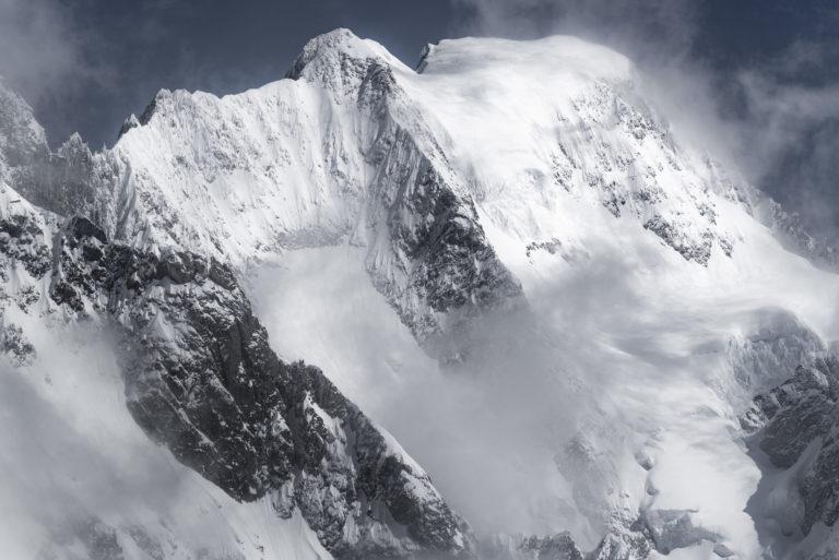 Photo massif mont blanc - Grandes Jorasses