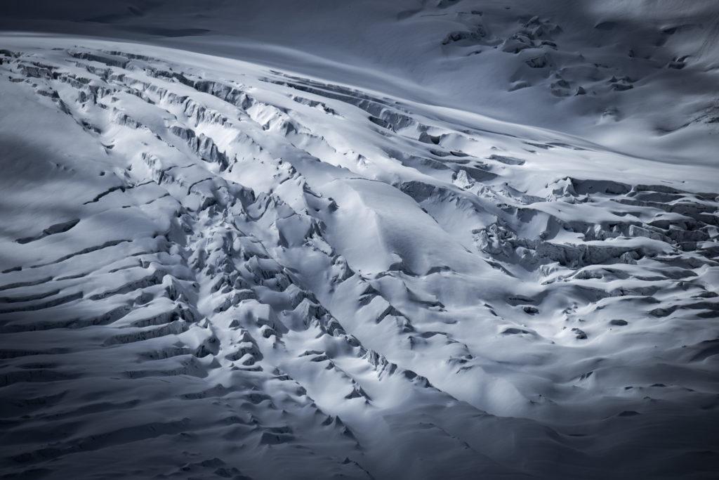Crevasse de montagne - Grenzgletscher sous le Lyskamm - photos montagne hautes alpes