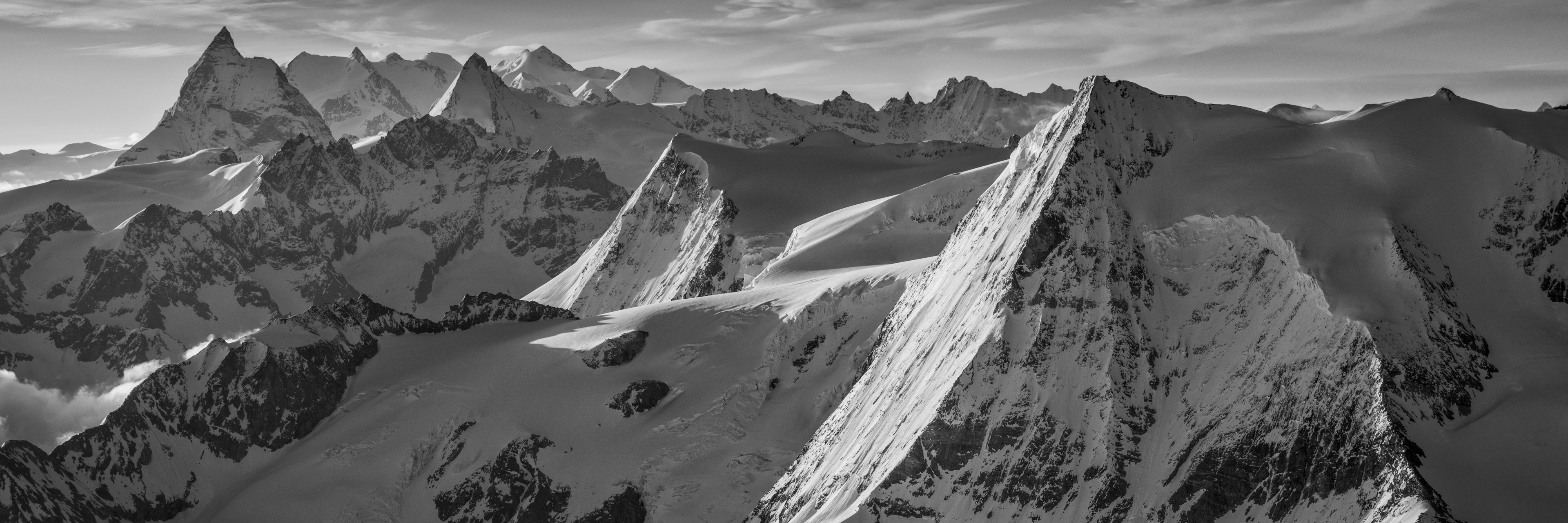 Photos panorama Alpes Suisses Valais - photo panorama mont blanc