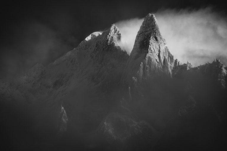 Image montagne Mont Blanc - image montagne - photo paysage montagne Alpes - Aiguille Verte et les Drus