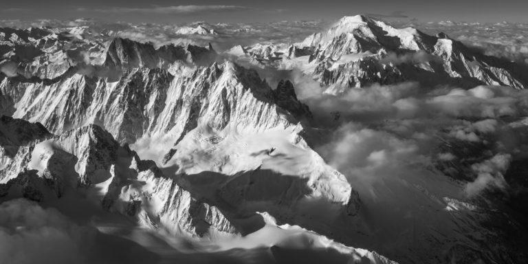 Massif du Mont-Banc - photo du mont blanc-chamonix - photo panorama massif du mont-blanc - photo hélicoptère mont-blanc