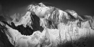 Montagne Verbier mont blanc - Superbe photo du mont blanc et du massif du Mont Blanc en noir et blanc