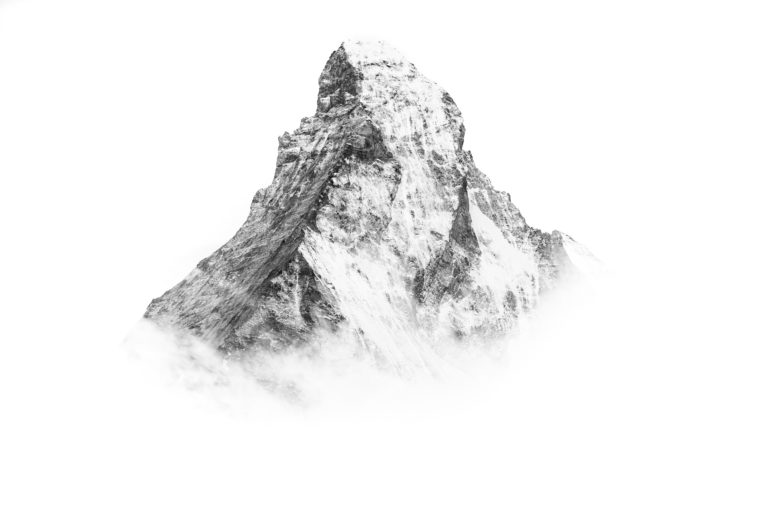 Mont Cervin - Photo montagne mont cervin matterhorn noir et blanc