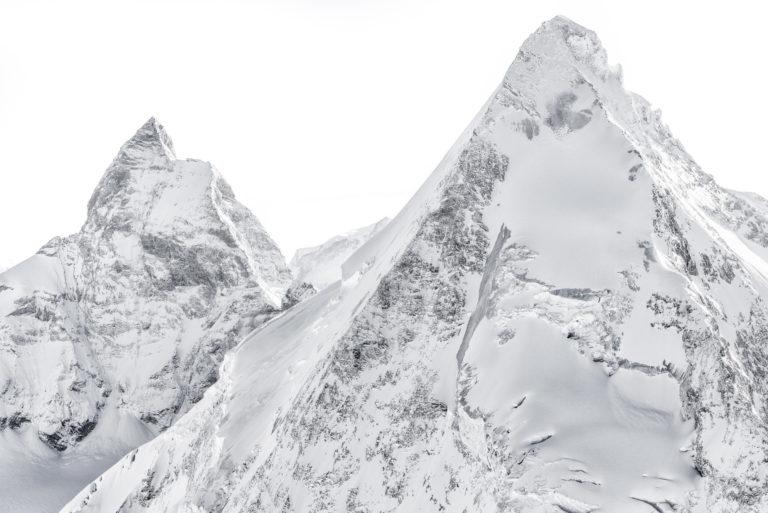 photo cervin matterhorn avec neige