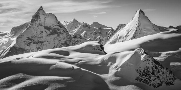Panoramique montagnes Alpes - Photo montagne Matterhorn dent d'Hérens