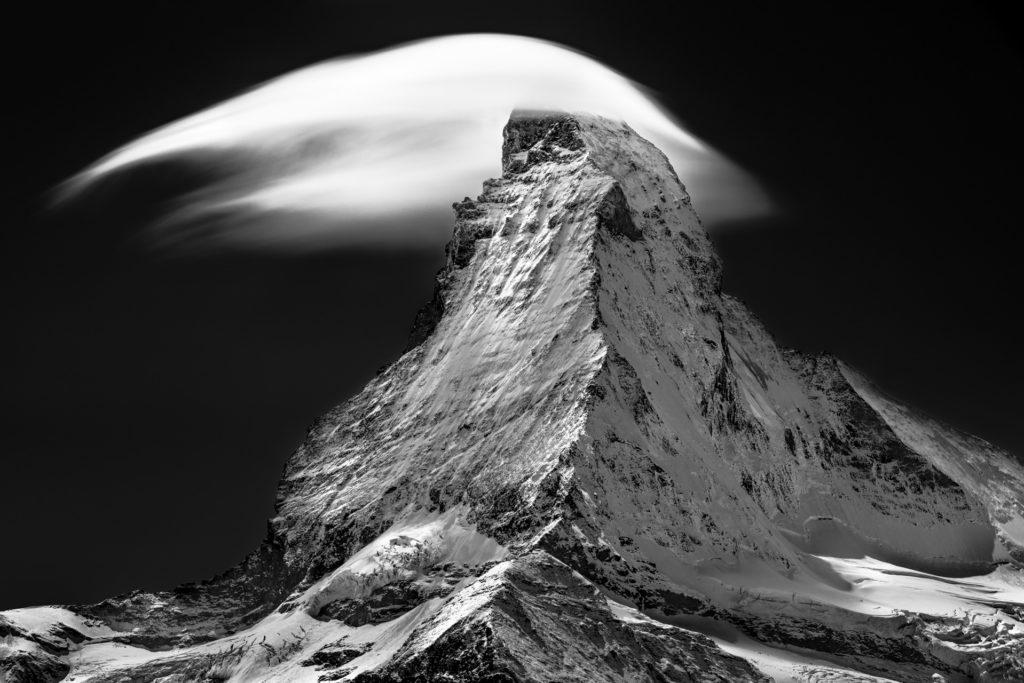Mont cervin Photo - Photo noir et blanc de Matterhorn