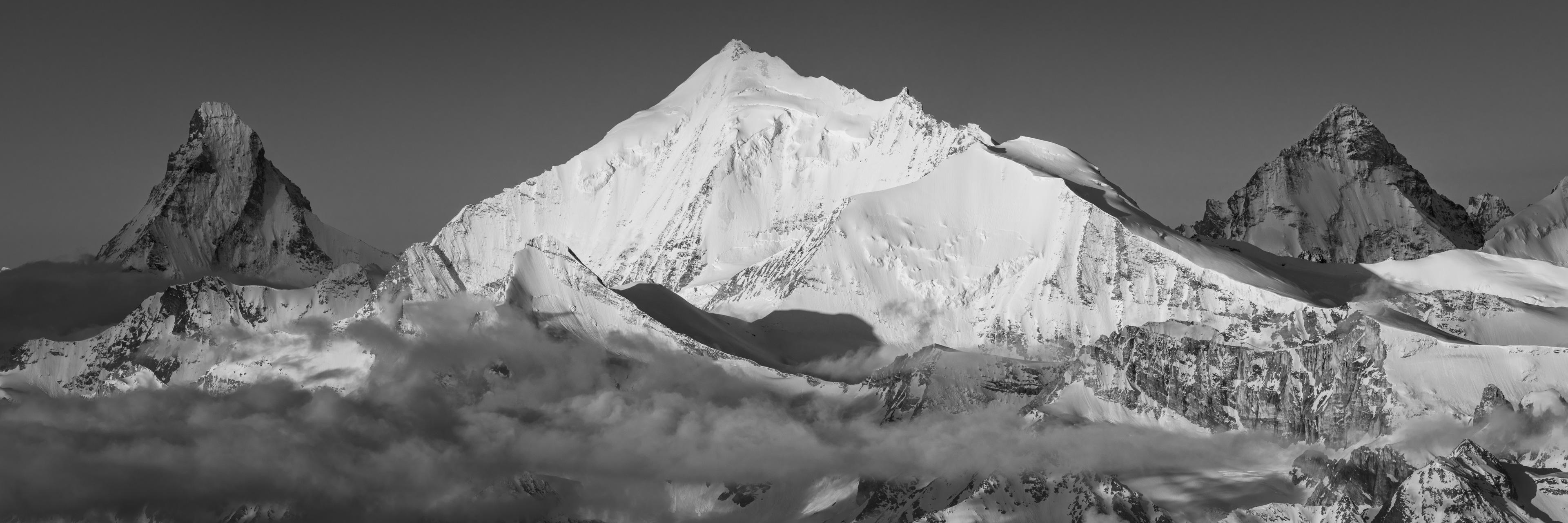 Photo vue Panoramique Dent blanche Valais Alpes Matterhorn