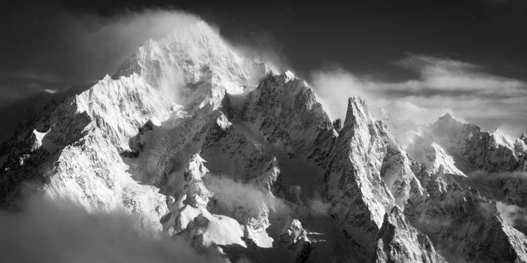 photo panorama mont blanc courmayeur