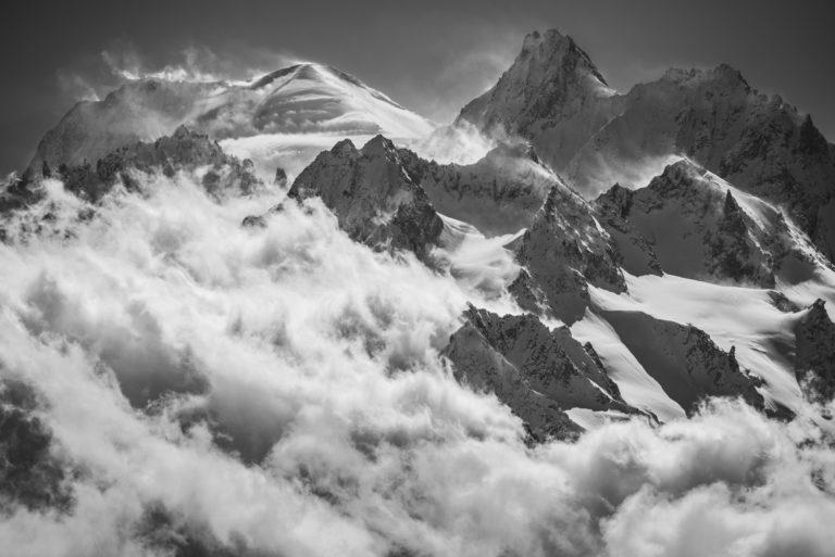 Val de Bagnes - Photo du mont blanc vu de verbier - Photo montagne massif du Mont Blanc