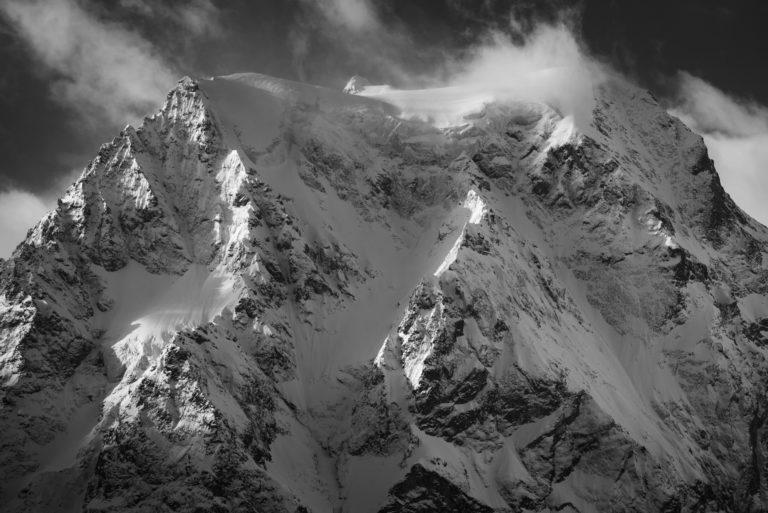 Val d'hérens -Photo paysage de montagne Mont Collon