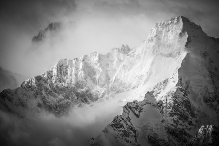Val de bagne - photo noir et blanc Verbier - Valais - Suisse - Mont Dolent