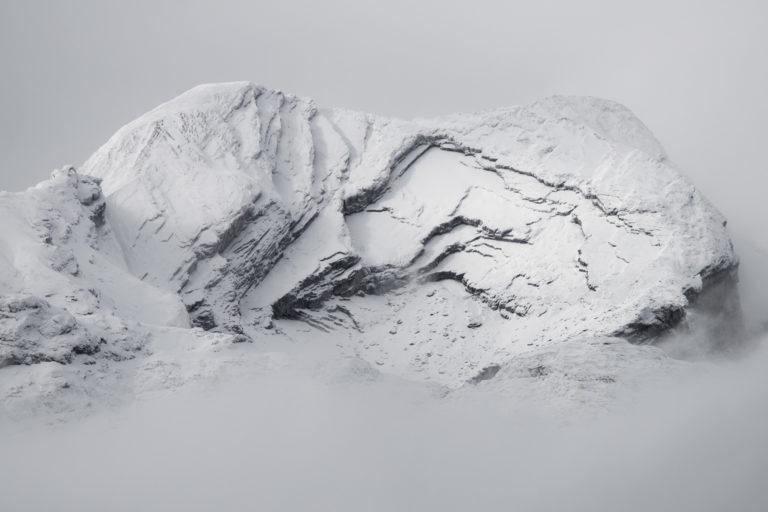 Photo des alpes Bernoises noir et blanc - Photo Mont gond