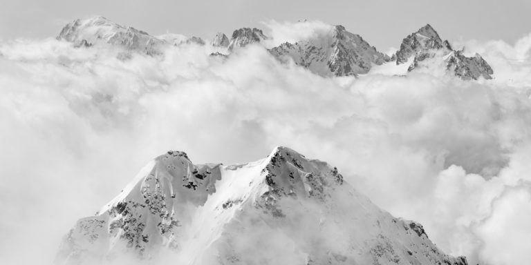 Val de Bagnes - Photo du mont blanc vu de verbier - Image montagne massif du Mont Blanc