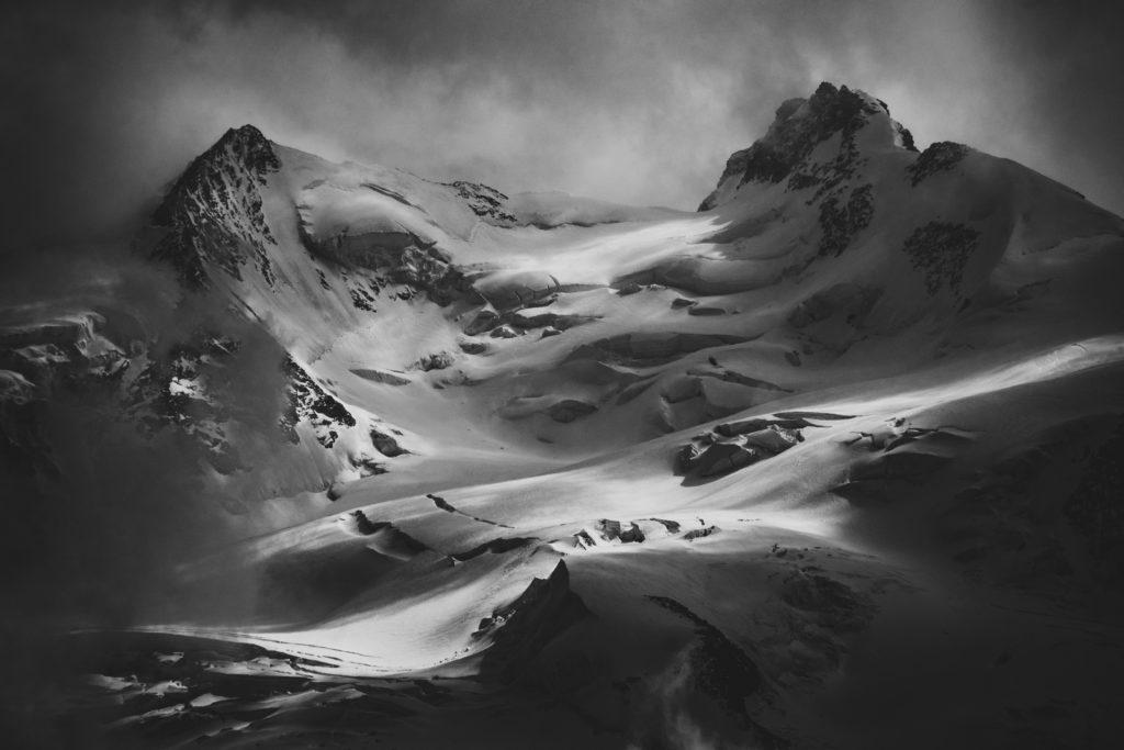 Image paysage montagne neige