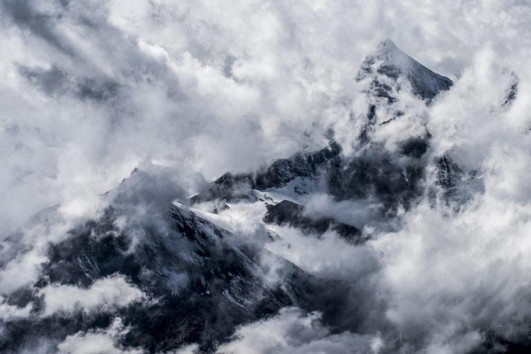 Obergabelhorn face nord vue de Zermatt - Crans-Montana