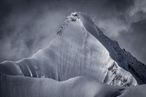 Photo face nord Obergabelhorn - image de montagne