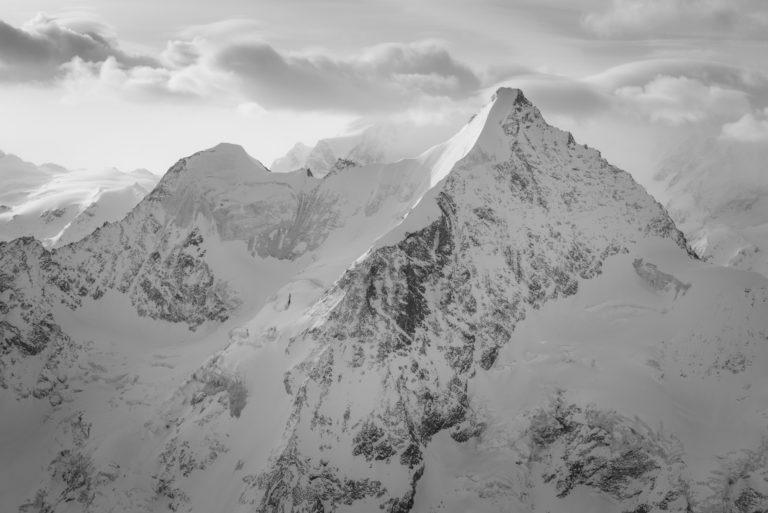 Ober gabelhorn - Photo montagne noir et blanc Crans-Montana