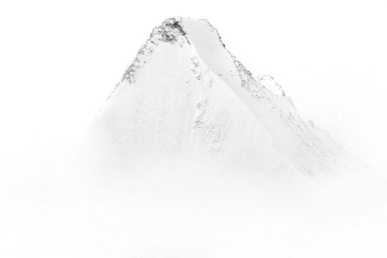 Obergablehorn north face - photo de montagne en neige Dans les Alpes Valaisannes à Crans Montana