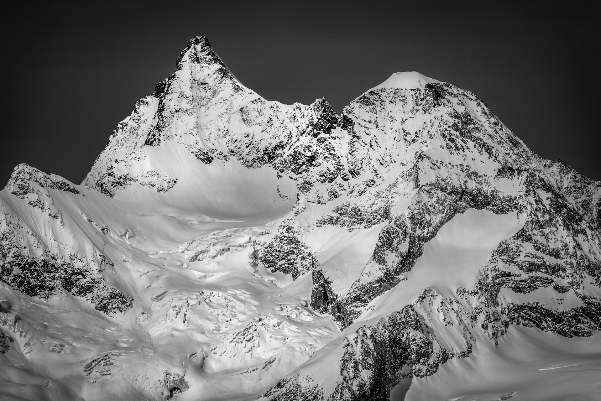 images montagnes Valais Suisse Zermatt - Obergabelhorn Wellenkupe
