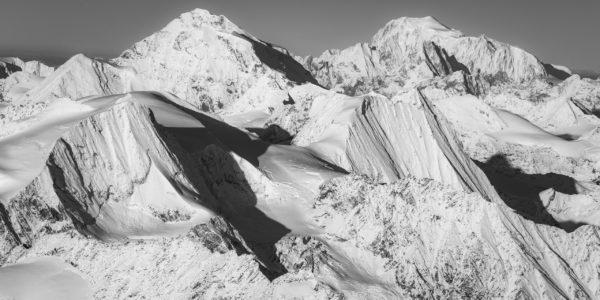 Panorama Mont Blanc et montagne suisse - sommet montagne du val d'Hérens- Verbier - les Combins - Massif du Mont-Blanc- Image paysage montagne neige