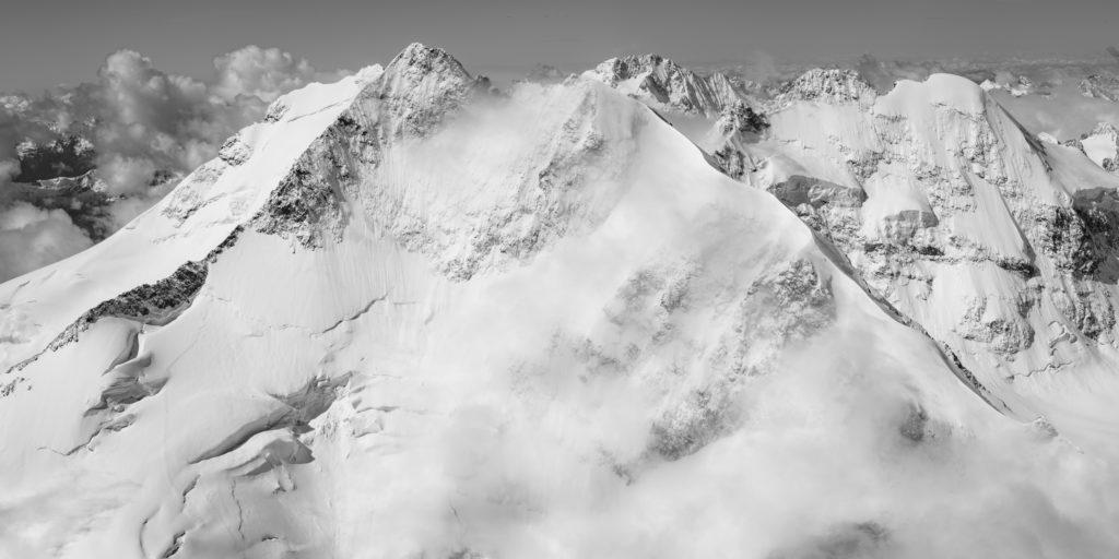 Piz Bernina Engadine Suisse - Panorama photo Montagne Alpes